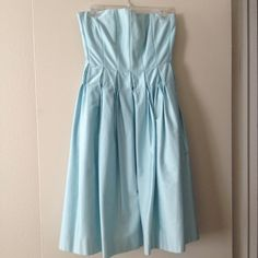 Beautiful Calvin Klein baby blue dress/gown  This gorgeous strapless dress by Calvin Klein was worn only once! Dry clean ready! Great for summer for any occasion! ❤️ open to offers!!! Calvin Klein Dresses