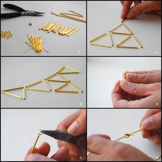 DIY: Hand Crafted Wood Jewelry, Double Finger Rings, Turquoise and Crystal: Sophie Monet Jewelry