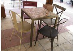 La Zeramika, en Molina de Segura, Murcia. Es otro de los locales con encanto que nos enamora. Sillas, taburetes y mesas de forja y cerámica, Made in Spainhttps://goo.gl/8h3wfH Mobiliario de www.fustaiferro.com  #madeinspain #interiorismo #hosteleria #fustaiferro