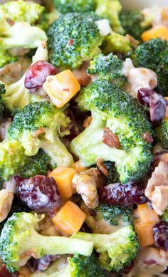 Broccoli Salad with Bacon and Cheddar Recipe   Best Broccoli Salad   Broccoli Salad with Dried Cranberries   Broccoli Salad with Walnuts   Easy Broccoli Salad