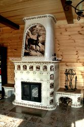 Russian brick and tile stoves and chimneys