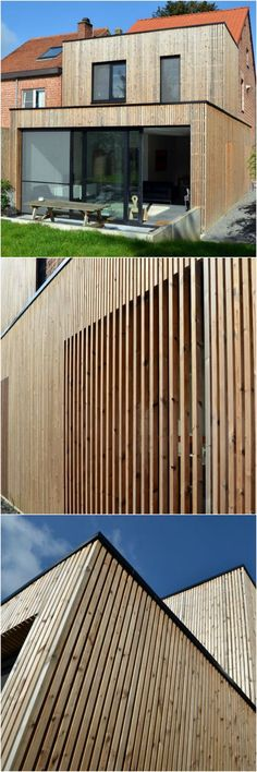 House Facade Renovation Modern Ideas For 2019 Wooden Cladding, Wooden Facade, Wooden Screen, House Cladding, Modern Roofing, Wood Architecture, House Extensions, Cabana, Exterior Design