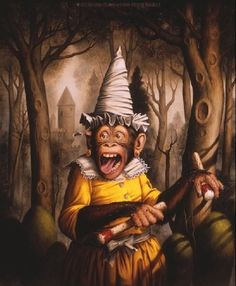 Donald Roller Wilson - I looooooooove this Artist. Brilliant, bizarre, skilled like a mo-fo. Happy 6th Birthday, Wilson Art, Monkey Art, Roller, Pop Surrealism, Surreal Art, Medium Art, American Artists, Pet Portraits