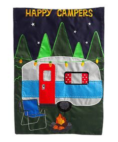 Another great find on #zulily! 'Happy Campers' Felt Outdoor Flag #zulilyfinds