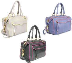 Rebecca Minkoff bags... love a square bag so I can fit my camera in it!