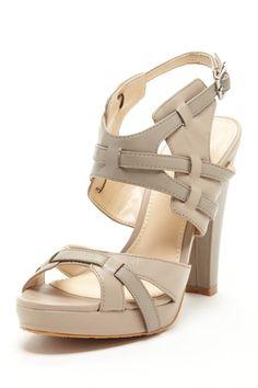 Calvin Klein Posha Nappa Platform Sandal by Fancy Footwork on @HauteLook