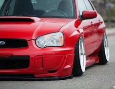 Subaru with negative camber. Looks pretty nice!
