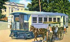 bermuda trails | bermuda trade development board postcard 1930s train on front street