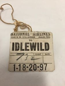 National-Airlines-Luggage-Baggage-Tag-Plane-Idlewild-Airport