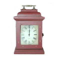 Zegar stojący czerwień