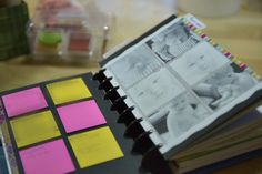 post it notes and favorite photos.