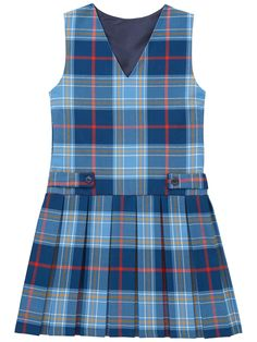 Buy Girls' Tartan School Tunic, Blue/Multi from our Sherborne House School range at John Lewis & Partners. Toddler School Uniforms, School Uniform Outfits, Kids Uniforms, School Dresses, Baby Girl Frocks, Frocks For Girls, Little Girl Dresses, Baby Frocks Designs, Baby Dress Patterns