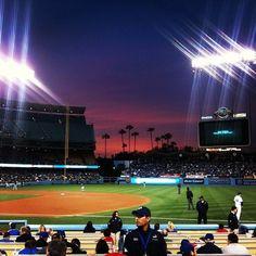 Dodger Stadium, Atlanta Braves vs. Los Angeles Dodgers, 4/24/12, bottom of the third