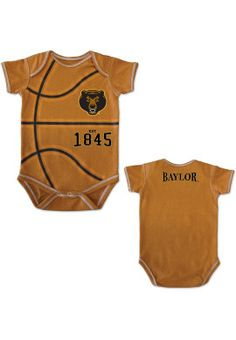 For the future Bear... #Baylor Bears Infant MVP Basketball Bodysuit