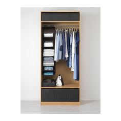 PAX Wardrobe - soft closing hinge, 100x60x236 cm - IKEA