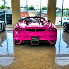 Pink Ferrari. Yes I do believe I need you. ASAP.