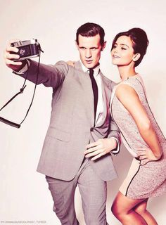 Matt Smith and Jenna Louise Coleman! <3 Dr. Who!