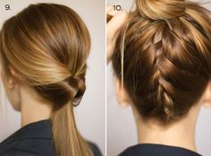 Hair and Make-up by Steph: Ten Ways to Dress Up a Ponytail. Georgous! Plan on doin the left one..
