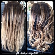 Ombré with balayage ash blond ends! | Yelp