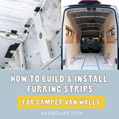 screw Van Conversion Guide, Diy Van Conversions, Camper Conversion, Duct Insulation, Insulation Materials, Build A Camper Van, Diy Camper, Van Wall, Plywood Walls