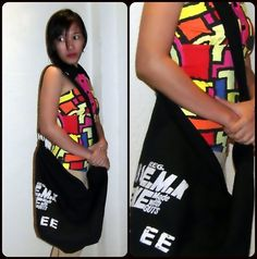 Chic Oversized Letters Printing Canvas Shoulder Bag in Black more here: http://lookbook.nu/look/4184772-Lively-Colors