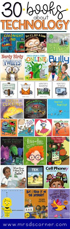 30 Technology books for kids of any age. Teach students about technology respons. Staying Safe Online, Science, Teacher Hacks, Teacher Stuff, Child Love, Children's Literature, Library Books, Library Ideas, Kid Books