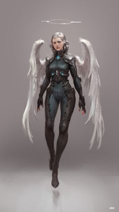 ArtStation - Sci-Fi Angel _ study, Sungryun Park