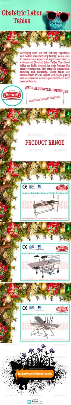 Leveraging upon our rich industry experience and modern manufacturing facility, we are able to manufacture, export and supply our clients a wide array of Obstetric Labor Tables.
