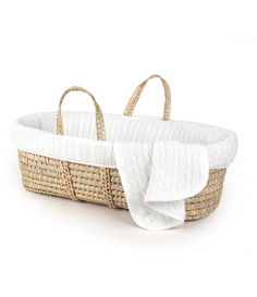 Mother Nature Inspired Baby Moses Basket Bedding//Dressing Blue Polka Dots