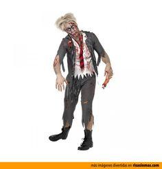 Disfraces de Halloween: Zombie.