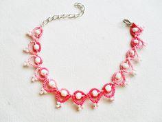 Lace bracelet, lace jewelry, bracelet rose, jewelry rose, tatting jewelry, tatted bracelet, frivolite bracelet, carmentatting, by carmentatting on Etsy