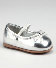 Take a look at this Silver Ballet Flat by Blow-Out on #zulily #fall today!