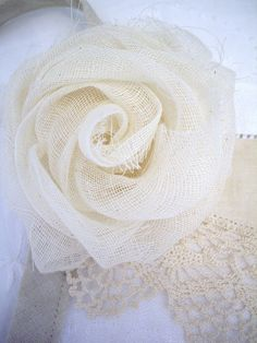 Seriously ... cheesecloth roses!