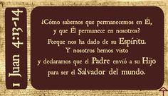 Cristo: Salvador del mundo  1 Juan 4:13-14