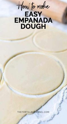 How to make empanada dough How to make empanada dough the easy way. By hand or with a kitchen machine. Done in no time for tasty sweet or savory empanadas. Visit thetortillachanne… for the recipes. Empanadas Recipe Dough, Beef Empanadas, Empanadas Dough For Frying, Puerto Rican Empanada Dough Recipe, Sweet Empanada Dough Recipe, Mexican Empanadas, Pumpkin Empanadas, Puerto Rican Recipes, Appetizers