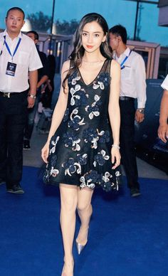 Angelababy does double duty with a Dior dress and a head-to-toe Givenchy look. Eye Smile, Dior Dress, Angelababy, Native American Women, Glamour, Asia Girl, Sexy Asian Girls, Beautiful Legs, Asian Fashion