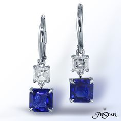 Sapphire and Diamond Earrings, would match my ring!!!