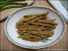 Oven Baked Asparagus Fries (Gluten-free, Vegan, Nut-free)