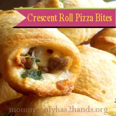 Crescent Roll Pizza Bites Recipe ~ Mommy Only Has 2 Hands
