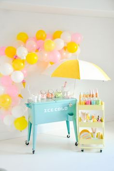 Kara's Party Ideas Ice Cream Sorbet Party with the New Lexington Cart Cadeau Baby Shower, Idee Baby Shower, First Birthday Parties, Birthday Party Themes, First Birthdays, Summer Birthday, Ice Cream Theme, Ice Cream Party, Party Stuff