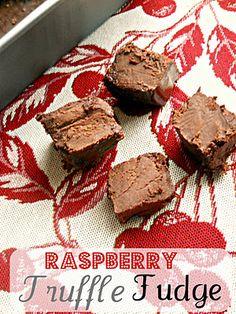 Raspberry Truffle Fudge