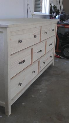 Wide cabin dresser do it yourself home projects from ana white build your own diy dresser Dresser Plans, Diy Furniture Plans, Wood Diy, Diy Dresser Plans, Diy Furniture Bedroom, Diy Dresser, Furniture Plans, Woodworking Furniture Plans, Diy Drawers