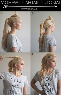 Find your inner warrior with this mohawk fishtail braid tutorial