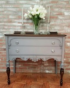 """Acquire terrific pointers on """"shabby chic furniture diy"""". They are on call for you on our internet site. Gray Painted Furniture, Painting Wooden Furniture, Refurbished Furniture, Farmhouse Furniture, Colorful Furniture, Upcycled Furniture, Shabby Chic Furniture, Rustic Furniture, Furniture Makeover"""