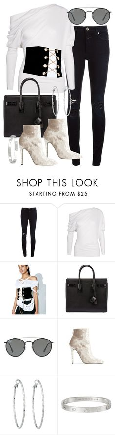 """""""Untitled #21027"""" by florencia95 ❤ liked on Polyvore featuring Closed, Tom Ford, Makers of Dreams, Yves Saint Laurent, Ray-Ban, Baldwin, Lydell NYC and Cartier"""