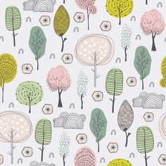Palm Tree Background, Tropical Background, Pastel Background, Vector Background, Doodle Art, Doodle Trees, Doodle Drawings, Simple Doodles, Cute Doodles