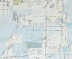 Gallerie Wallpaper - Riviéra Maison Oceans Maps - 18390
