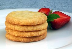 Low-Carb Vanilla Toffee Butter Cookies (Gluten-Free, Sugar-Free, Egg-Free) - Low Carb, So Simple! | Low-Carb, So Simple! -- gluten-free, sugar-free recipes with 5 ingredients or less