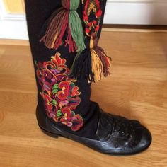 Folk Costume, Costumes, Folk Clothing, Folklore, Norway, Scandinavian, Embroidery, Boots, Inspiration