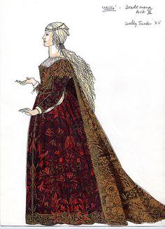 DESDEMONA KIRI TE KANAWA OTELLO Project for Royal Opera House 1985 Designer: Sally Jacobs